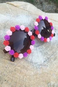 Flower Rose Rim Sunglasses