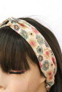 Head Piece - Music Festival Floral Print Stretch Headband