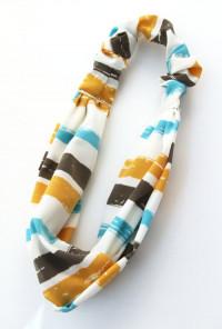 Head Piece - Music Festival Multi Color Stripe Stretch Headband
