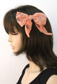Hair Clip - Heartfelt Companion Vintage Print Bow Hair Clip