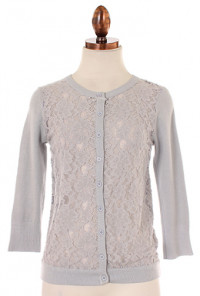 grey lace cardigan