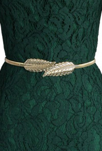 Belt - Grandeur Adornment Leaf Foliage Belt