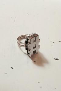 Rings - Media Socialite Hashtag Ring in Silver
