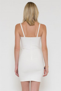 Sincerely Sweet Dress - Hotel Bar Lace Sweetheart White Cocktail Dress