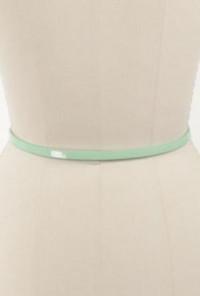 Mint Bow Skinny Belt