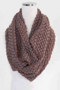 Scarf - Traveled Road Knitted Brown Infinity Scarf