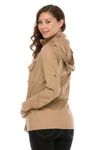 Khaki Military Utility Jacket