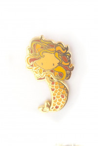 Zodiac Mermaid Enamel Pin - Leo