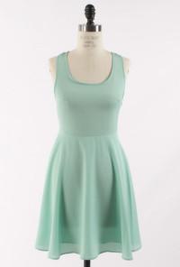 Mint Multi Strap Back Skater Dress
