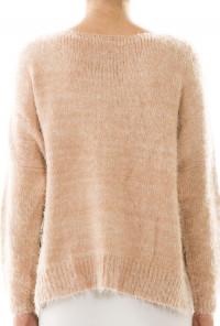 Pastel Pink Fluffy Heart Print Sweater