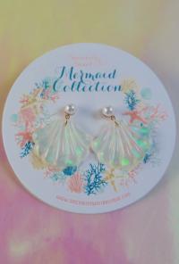 s Holographic Seashell Earrings