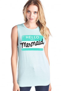 Hello I'm a Mermaid Graphic Tank