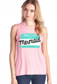 Hello I'm a Mermaid Graphic Tank