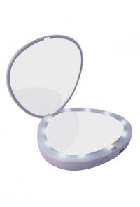 Mermaid Aura Seashell Led Compact Mirror Power Bank In