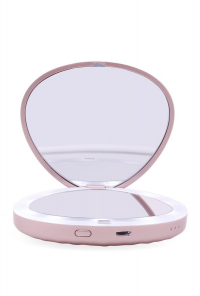 Seashell LED Compact Mirror Power Bank in Rose Gold