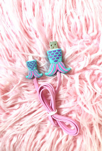 Kawaii Mermaid Tail Charging Cord