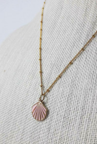 Mermaid Charm Seashell Pendant Necklace