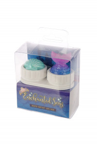 Mermaid Tail & Shell Topper Contact Lens Case