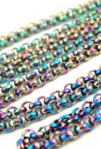 Mermaid Iridescence Chain Collar Pins
