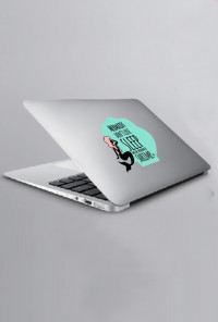 mermaid macbook decal