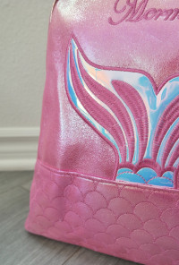 mermaid mini backpack hot pink