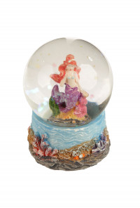 Enchanted Seas Mini Mermaid Snow Globe