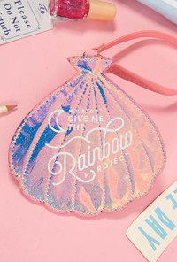 Mermaid Iridescent Seashell Luggage Tag
