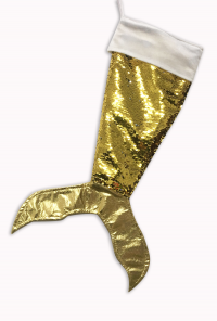 gold sequin mermaid tail stocking
