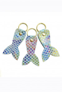iridescent Mermaid Tail Keychain