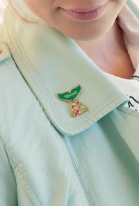 mermaid tail lapel pin