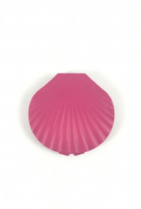 fuchsia Seashell Compact Mirror