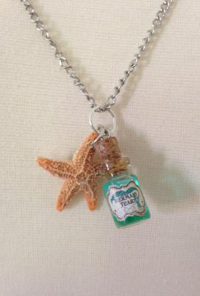 Mermaid Tears Bottle Charm Necklace