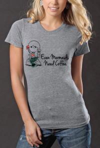 Mermaids Need Coffee Graphic Tee