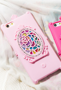 iPhone Case - Magic Mirror iPhone 6 Case in Pink
