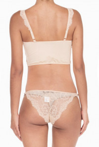 Mutual Attraction Lace Bralette and Panty Set in Nude