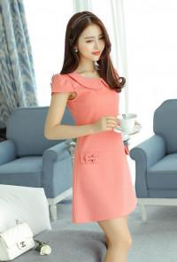 pink peter pan collar dress
