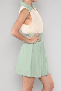 Mint and Cream Dress