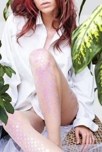 pink mermaid tights
