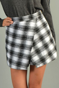 cute plaid skorts