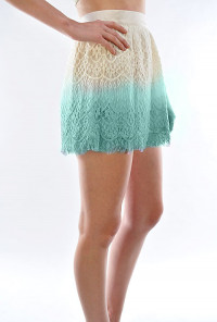 mint ombre Lace Skater Skirt