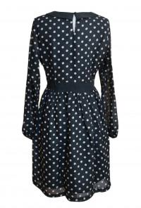 Vintage Vibes Polka Dot Long Sleeve Dress
