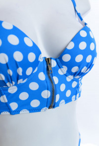 Corset Bikini Top with High Waist Bikini Bottom