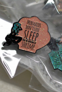 quirky mermaid lapel pin