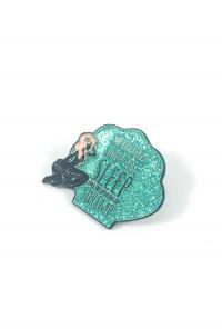 quirky mermaid lapel pin