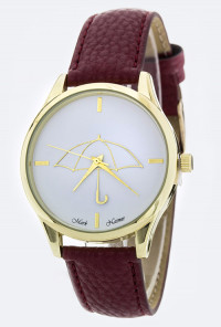 Watch - Rainy Days Iconic Umbrella Watch in Maroon