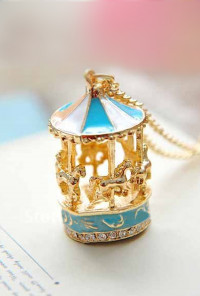 Necklace - Round & Round Carousel Pendant Necklace