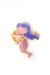 Zodiac Mermaid Enamel Pin - Sagittarius