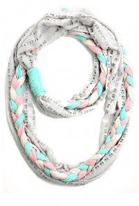 Scarf - Free Spirit Tri-Color Braid Infinity Scarf