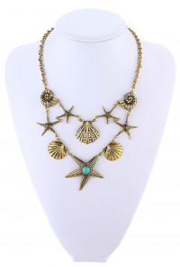 Sea of Enchantment Seashell Mermaid Statement Necklace