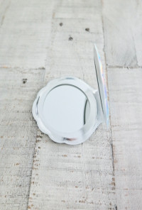 Seashell Compact Mirror in aqua